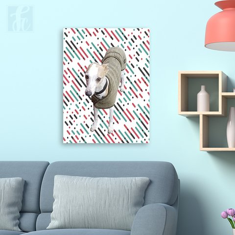 Placa Decor Pet Personalizada - Riscos Coloridos - comprar online
