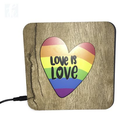 Luminária Ledito Wood - Love is Love 1