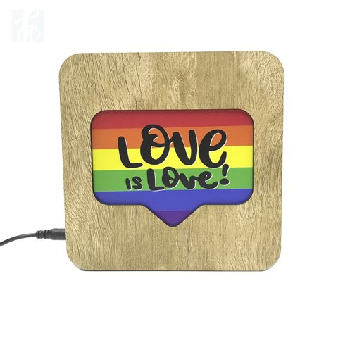 Luminária Ledito Wood - Love is Love 2