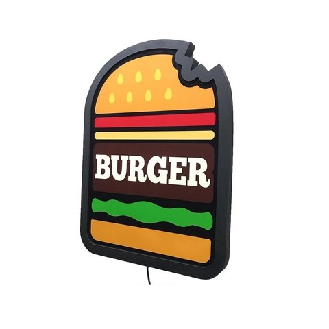 Painel Luminoso Led - Burger Nhac M