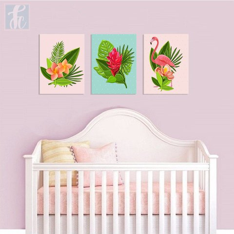 Placa Decor Kit Trio - Flamingo