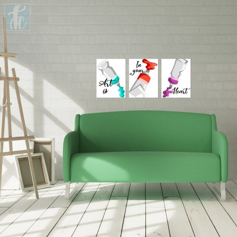 Placa Decor Kit Trio - Arte