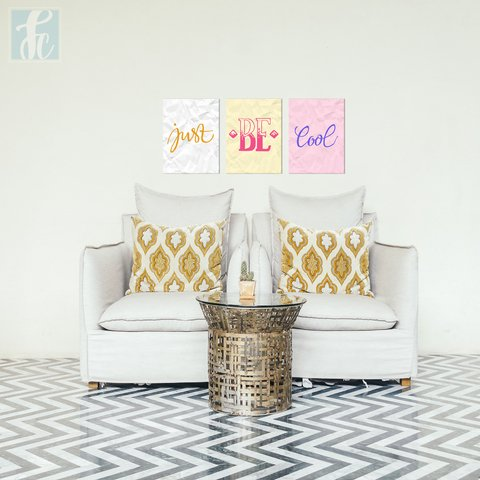 Placa Decor Kit Trio - Just Be Cool