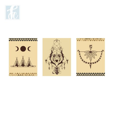 Placa Decor Kit Trio - Indian - comprar online