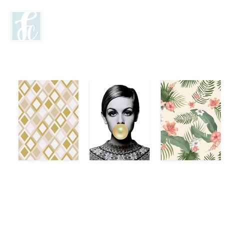 Placa Decor Kit Trio - Lesley Lawson - Twiggy - comprar online