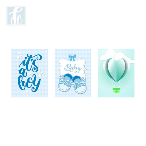 Placa Decor Kit Trio - Baby Boy - comprar online