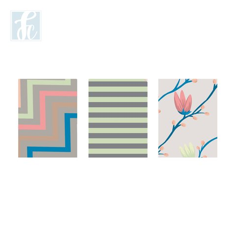 Placa Decor Kit Trio - Flor Geomêtrica - comprar online