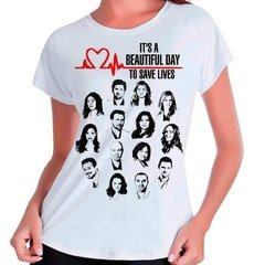 Camiseta Grey's Anatomy Beautiful Day Save Lives Babylook