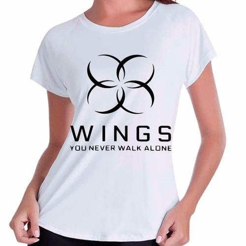 Camiseta Babylook Bangtan Boys Bts You Never Walk Alone