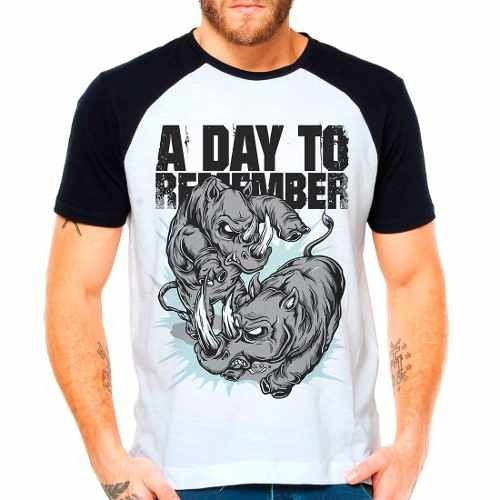 Camiseta Blusa Banda A Day To Remember Raglan Manga Curta