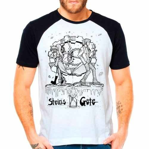 Camiseta Raglan Anime Steins Gate Lost Time