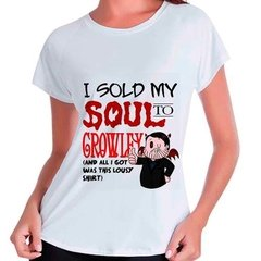 Camiseta Babylook Supernatural I Sold My Soul To Crowley