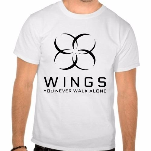 Camiseta Branca Bangtan Boys Bts You Never Walk Alone