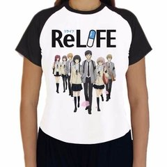 Camiseta Relife Personagens Anime Babylook Raglan