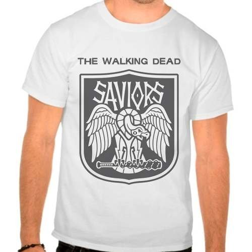Camiseta The Walking Dead Saviors Twd Masculina Branca