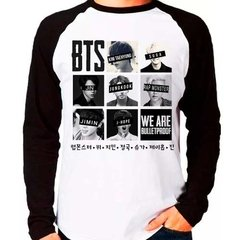 Camiseta Bts We Are Bulletproof Kpop Raglan Manga  Longa