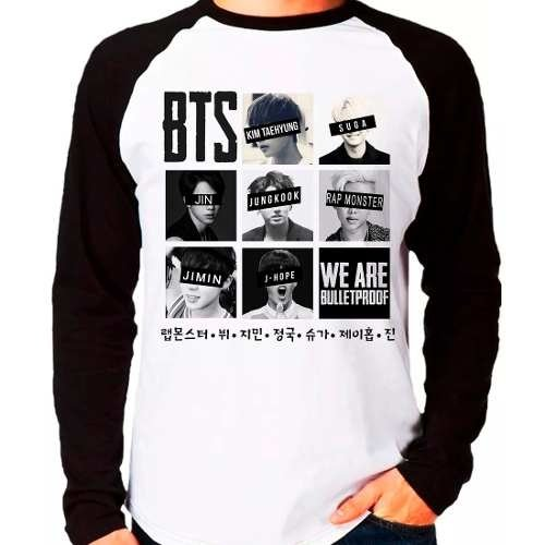 Camiseta Bangtan Boys Bts We Are Bulletproof Kpop M. Longa