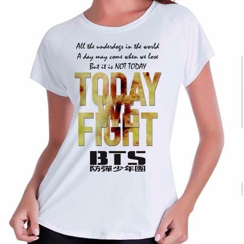 Camiseta Babylook Bts Bangtan Boys Not Today Kpop