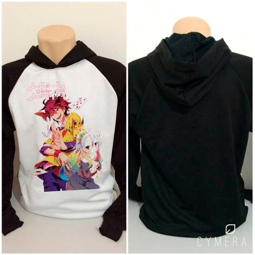 Casaco Blusa Moletom Anime No Game No Life Sora E Shiro