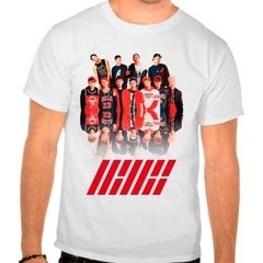 Camiseta Branca Kpop K-pop Integrantes Ikon