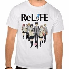 Camiseta Branca Relife Personagens Anime