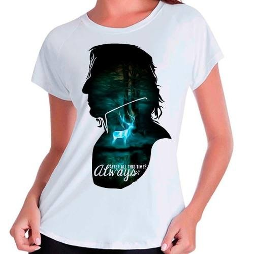 Camiseta Harry Potter Hp Snape After All This Time Babylook