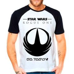 Camiseta Star Wars Rogue One Raglan Manga Curta