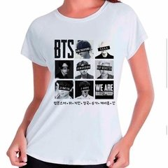 Camiseta Bts Bangtan Boys We Are Bulletproof Babylook Branca