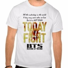 Camiseta Branca Bts Bangtan Boys Not Today Kpop