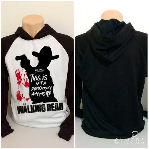 Blusa Moletom Twd Rick Grimes Not A Democry The Walking Dead