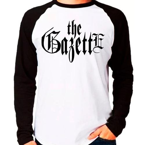 Camiseta Banda The Gazette Jrock Raglan Manga Longa
