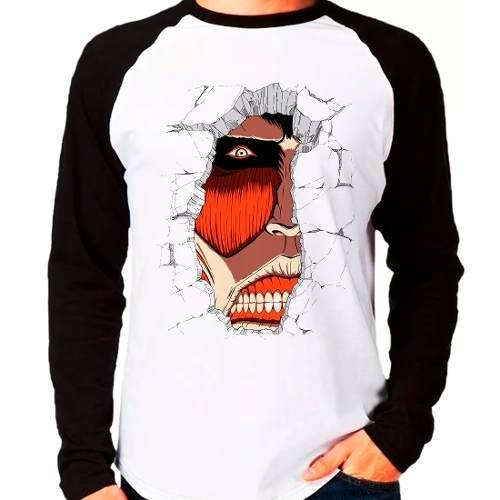 Camiseta Shingeki No Kyojin Attack On Titan V01 Manga Longa