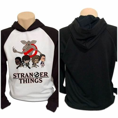 Casaco Blusa Moletom Stranger Things Ghostbusters Demogorgon