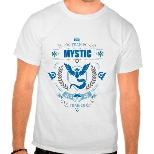 Camiseta Branca Pokemon Go Team Mystic Articuno Time Azul