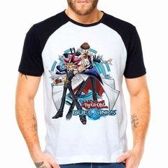 Camiseta Yu-gi-oh! Duel Links Game Raglan Manga Curta