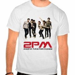 Camiseta 2pm Time For Change Kpop Integrantes Branca