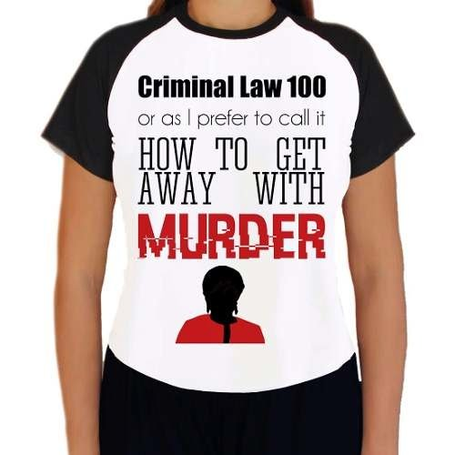 Camiseta How To Get Away With Murder Série Babylook Raglan