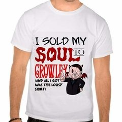 Camiseta Branca Série Supernatural I Sold My Soul To Crowley