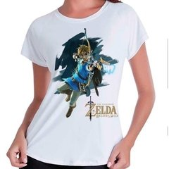 Camiseta Babylook Zelda Breath Of The Wild