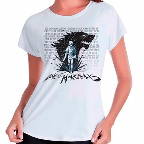 Camiseta Arya Stark Valar Morghulis Game Of Thrones Babylook