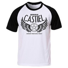 Camiseta Supernatural Sobrenatural Anjo Castiel Church