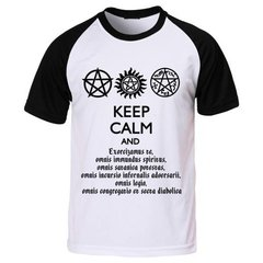 Camiseta Série Supernatural Keep Calm And Exorcizamus Te