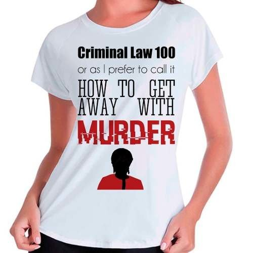 Camiseta Babylook Série How To Get Away With Murder