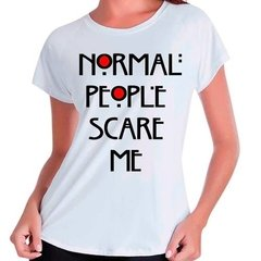 Camiseta Babylook Série American Horror Story Ahs Scare Me