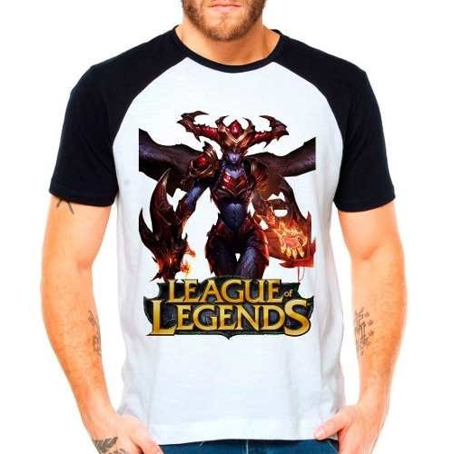 Camiseta Raglan League Of Legends Shyvana Lol Jungler
