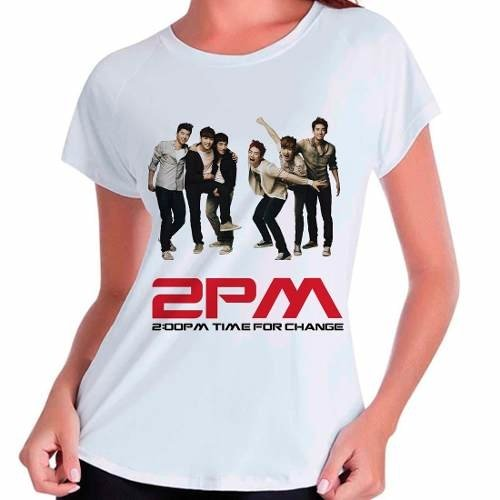 Camiseta 2pm Time For Change Kpop Integrantes Babylook