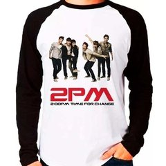 Camiseta 2pm Time For Change Kpop Integrantes Raglan Longa