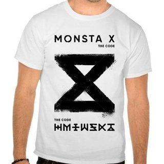Camiseta Branca Monsta X The Code Kpop