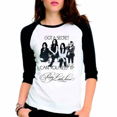 Camiseta Pretty Little Liars Got Secret Raglan Babylook 3/4