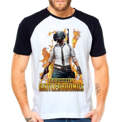 Camiseta Playerunknown's Battlegrounds Raglan Manga Curta